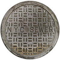NYC SEWER COVER DOORMAT