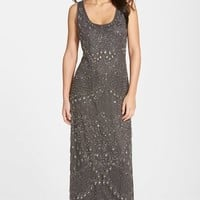 Women's Pisarro Nights Beaded Mesh A-Line Gown