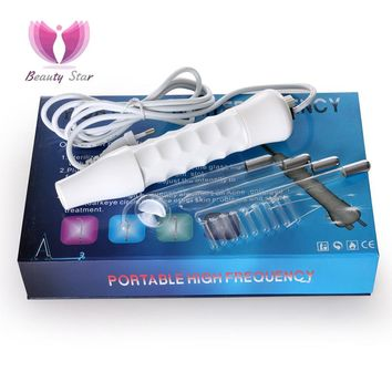 Beauty Star 4 In 1 High Frequency Electrode Wand Electrotherapy Glass Tube Beauty Device