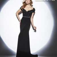Homecoming Dresses - Tony Bowls Evening TBE21411 Lace Sleeves