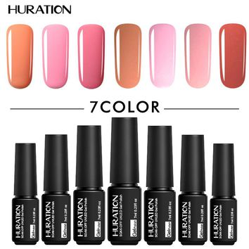 Huraiton Semi Permanent 7ml 3In1 UV Gel Varnish Soak Off One Step Nail Gel Polish No Need Top Base Coat Nails Art