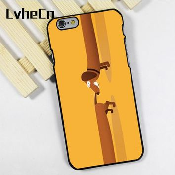 LvheCn phone case cover fit for iPhone 4 4s 5 5s 5c SE 6 6s 7 8 plus X ipod touch 4 5 6 Dachshund Wiener Dog Chasing Tail