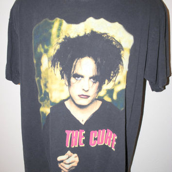 1996 The Cure Treasure Vintage Wild Mood Swings Era 90's English Post Punk Goth Rock Concert Tour T-Shirt