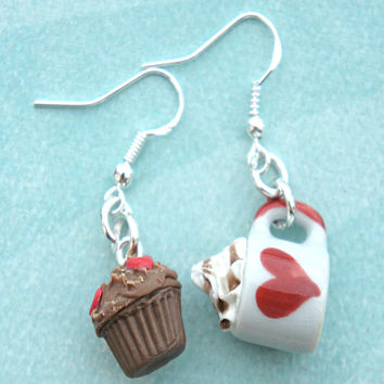 Alice in Wonderland Inspired Dangle Earrings