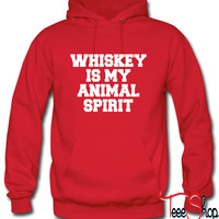 Whiskey Is My Animal Spirit Hoodie