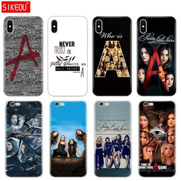 Silicone Cover Phone Case For Iphone 6 X 8 7 6s 5 5s SE Plus 10 Case Pretty Little Liars TV