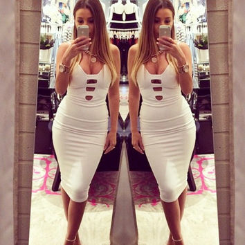 Sexy Spaghetti Strap Bodycon Short Dress