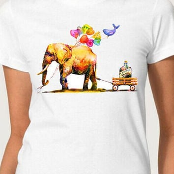 Elephant & Whale Friendship T-Shirt