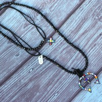 Black Squash Blossom Necklace