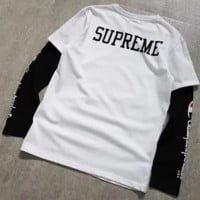 Supreme co-branded Champion co-designed long-sleeved T-shirt F0660-1 White