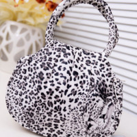 Fashion Style PU Leather Small Handbag (Black Leopard).