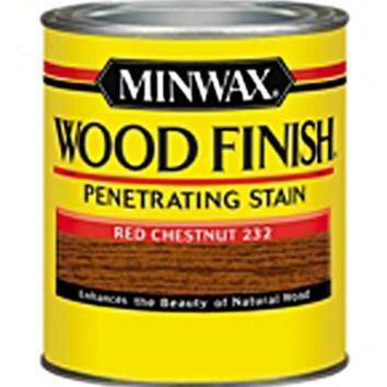 Minwax® 223204444 Wood Finish™ Penetrating Wood Stain, Red Chestnut (232), 1/2 Pt