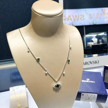 HCXX 19July 396 Swarovski LUCKILY Devil's Eye Fresh Necklace Clavicle Chain Female Jewelry 5429734
