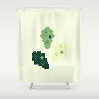 oak leaves. cubistic. Shower Curtain by Ia Po