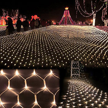 2x3M 4x6M Christmas Garlands LED String Christmas Fishing Net Lights Fairy Xmas Party Garden Wedding Decoration Curtain Lights