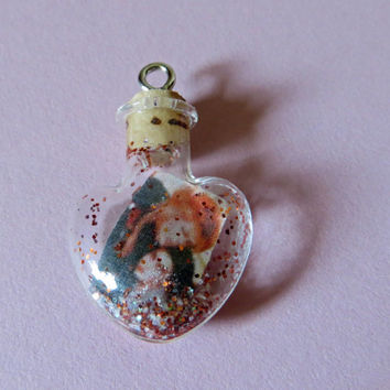 Ship in a Bottle Labyrinth Goblin King Jareth Sarah Tiny Heart Charm for iPhone, Samsung, Nintendo, PSP, PS Vita or iPod
