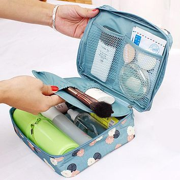 Waterproof zipper Casual travel professional cosmetic bag organizer make up case Toiletry kit wash makeup pouch Cases for women