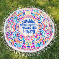 Sunshine on my Shoulders Picnic Blanket!!