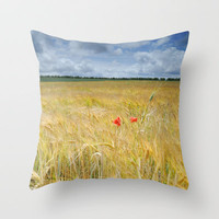 Two poppies Throw Pillow by Guido Montañés
