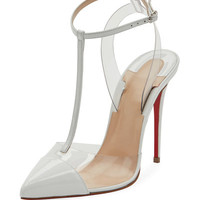 Christian Louboutin Nosy T-Strap Red Sole Pump