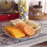 Fake Cheese Cheddar, Swiss, Crackers 16 pcs Food Prop