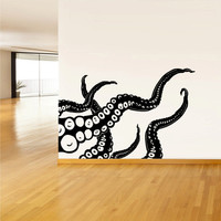 Wall Decal Vinyl Sticker Decals Art Decor Octopus Sprut Poulpe Delfish tentacles