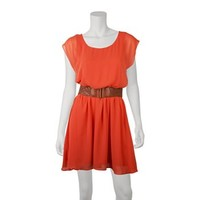 IZ Byer California Belted Dress - Juniors