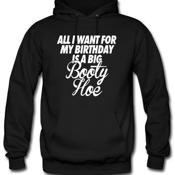 All I Want For My Birthday is a Big Booty Hoe Hoodie