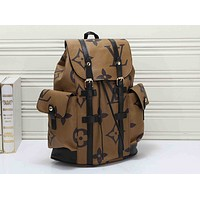 Louis Vuitton Casual retro versatile print stitching large-capacity travel bag backpack 2#