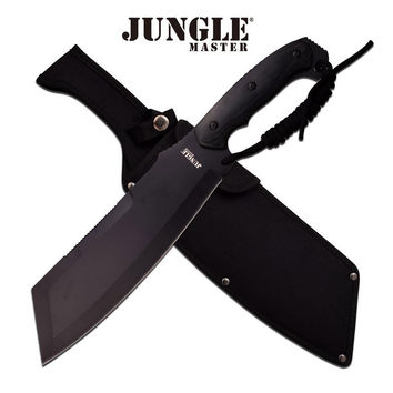 Jungle Master 15.75 Inch Machete Knife Black Pakka Wood Handle