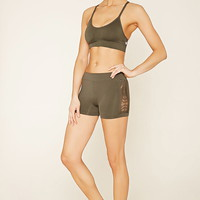 Active Cutout Seamless Shorts | Forever 21 - 2000171136