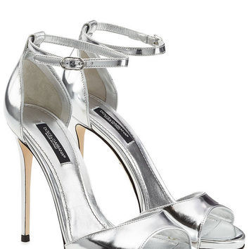 Metallic Leather Stiletto Sandals - Dolce & Gabbana | WOMEN | GB STYLEBOP.COM