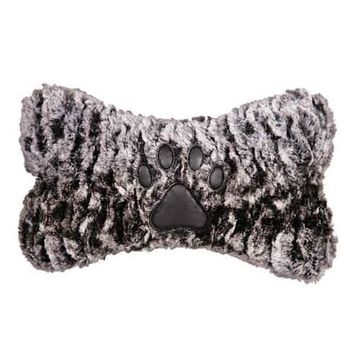 Grriggles Luxe Faux Fur Bone Dog Toy - Brown