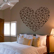 Cheetah Spot Heart Vinyl Wall Decal Sticker Cheetah Print