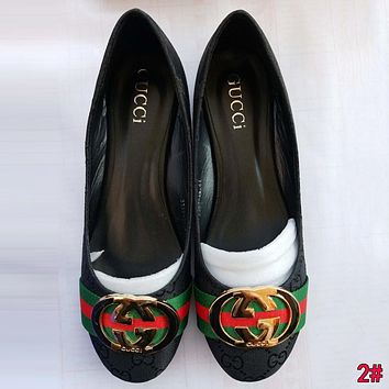 GUCCI Classic Fashion Women Casual Stripe Flat Single Shoe 2#