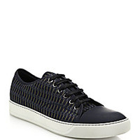 Lanvin - Jacquard Lace-Up Sneakers - Saks Fifth Avenue Mobile