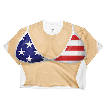 Fourth of July  BIKINI Crop Top