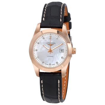 Longines Conquest Classic Mother Of Pearl Dial Ladies Watch L22858873