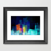 Underwater city Framed Art Print by SensualPatterns