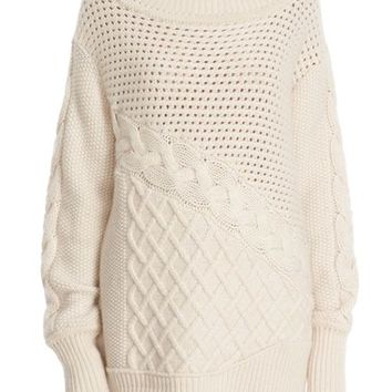 Prabal Gurung Cable Knit Cashmere Sweater | Nordstrom