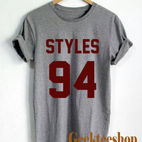 One Direction Shirt Harry Styles 94 Logo Unisex T Shirt tee Size N-2