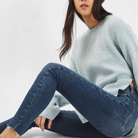 MOTO Blue Raw Hem Jamie Jeans - Jeans - Clothing