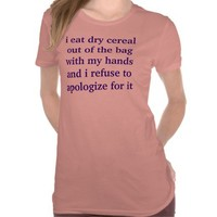 dry cereal fan tshirts from Zazzle.com