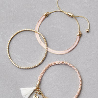 AEO BLUSH ARM PARTY BRACELETS, Pink