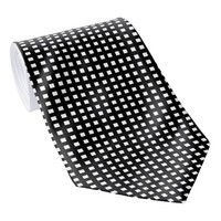 Black and White Men's Necktie