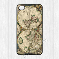 World Map iPhone 4 Case, Vintage Classic World Map iPhone 4 4g 4s Hard Plastic Rubber Case,cover skin case for iphone 4/4g/4s cases, More.