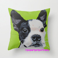 Custom Throw pillow Custom pet pillow from painting Pop art pet portraits pet portrait pet painting painting from photo