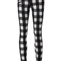 Rag & Bone plaid skinny trousers