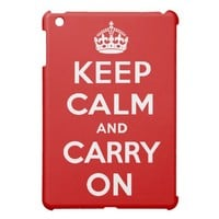Keep Calm and Carry On iPad Mini Case from Zazzle.com