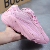 Adidas Yeezy 700 Runner Boost Fashion Casual Running Sport Shoes Pink I/A